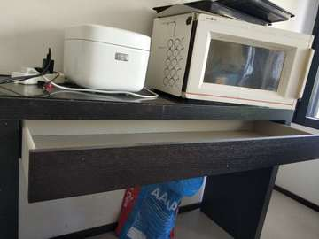 Giving away: bed, desk , chair and microwave