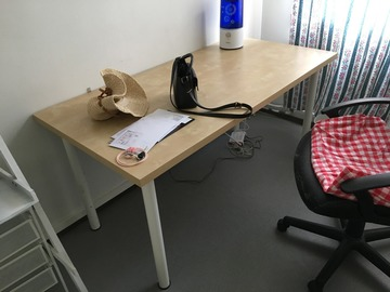 Selling: Table and adjustable chair for sale