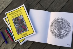 : Mandala Universe Adult Colouring Book - 14 Unique Designs