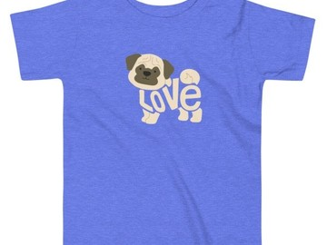 Selling: Toddler - LoVe T-Shirt PUG Edition