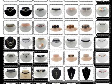 Buy Now: 600 choker/necklace Liquidation Wholesale. 50 Designs. One dozen