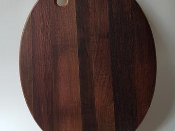 : Charcuterie Board [made from an oak wine barrel]