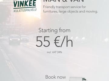 Offering: Moving + Furniture Transport Service
