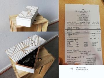 Myydään: Wooden box