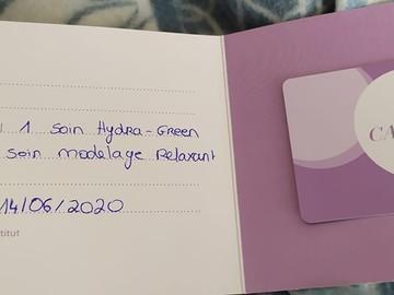 Vente: 2 cartes cadeaux Institut Marionnaud (208€)