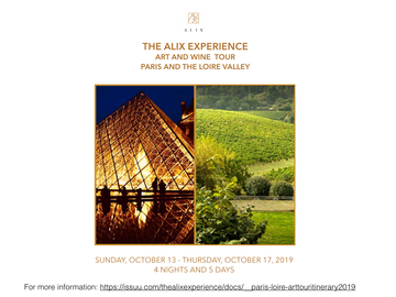 Announcement: ALIX Paris/Loire Vallery Art and Wine Tour
