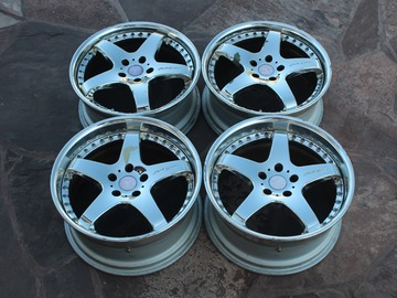 Selling:  Seiken NKB CUP 3 by SSR 18inch 8/9J 5x112 3PIECE WHEELS BENZ