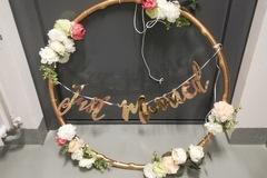 Ilmoitus: Kultainen koristerengas + just married viiri