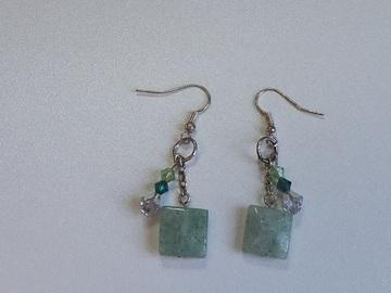 Vente au détail: Boucles d'oreilles la Panthère verte.