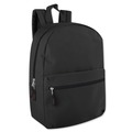 Liquidation Lot: 24 x New Solid Black 17 Inch Backpacks - Easy Seller At Any Event