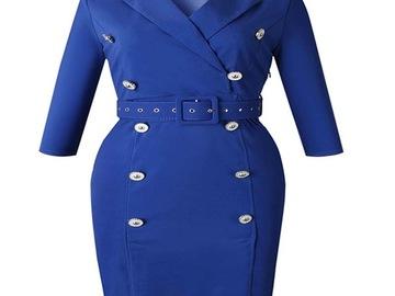 Vente avec paiement en ligne: Afrique vêtements élégant bureau dame crayon robe femmes de haute