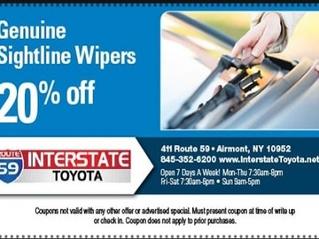 Offering: Toyota Genuine Sightline Wiper Blade