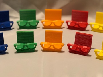 Selling with online payment: Unique 3D printed eyeglass business card holders