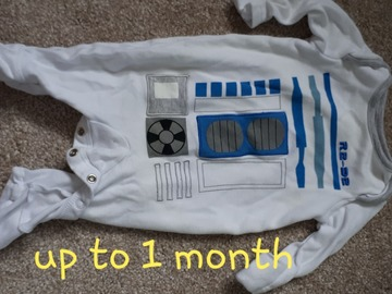 Selling with online payment: Star wars baby grow, age 1-3 Mths
