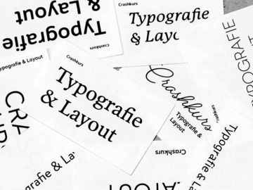 Workshop Angebot (Termine): CRASHKURS TYPOGRAFIE & LAYOUT