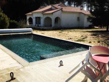 NOS JARDINS A LOUER: Beaux jardins avec piscine  au cœur des Landes