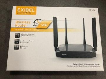 Myydään: Exibel wireless AC router NBG6602