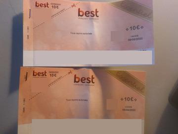 Vente: Chèques cadeaux Best Essentiel (3x10€)