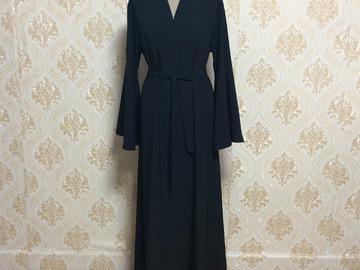 Vente avec paiement en ligne: Musulman nouvelle mode Abayas pour les femmes col en v lâche basi