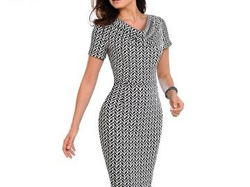 Vente avec paiement en ligne: Nice-forever femmes Vintage porter au travail élégant vestidos