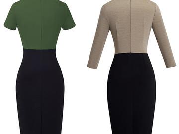 Vente avec paiement en ligne: Nice-forever Vintage élégant contraste couleur Patchwork porter
