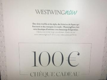 Vente: Chèque cadeau WestWingNow.fr (100€)