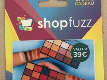 Vente: Carte cadeau Shop Fuzz (39€ + bonus de 9€)