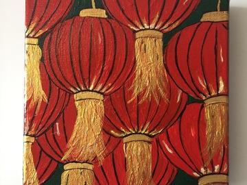 : Acrylic Painting : Chinese Lanterns