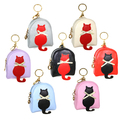 Buy Now: (72) Stylish Women PU Leather Zip Keychain Coin Purses Wallets