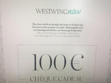 Vente: 2 chèques cadeaux WestWingNow.fr (2 x 100€)