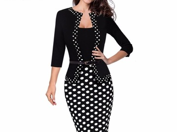 Vente avec paiement en ligne: Nice-forever une-pièce fausse veste rétro contraste Polka porter