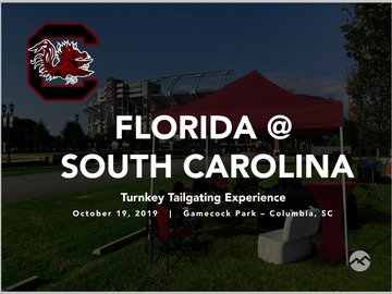 Paid Events: Florida @ South Carolina Turnkey Tailgate