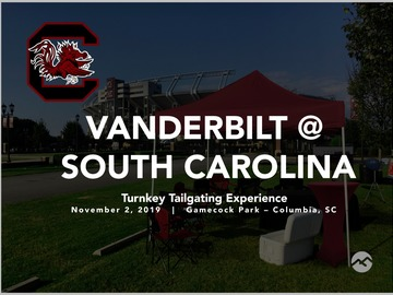 Paid Events: Vanderbilt @ South Carolina Turnkey Tailgate