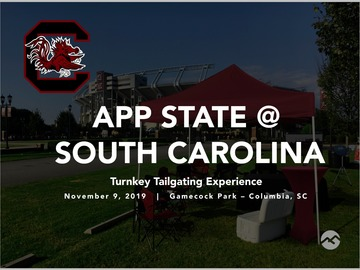 Paid Events: App State @ South Carolina Tailgate