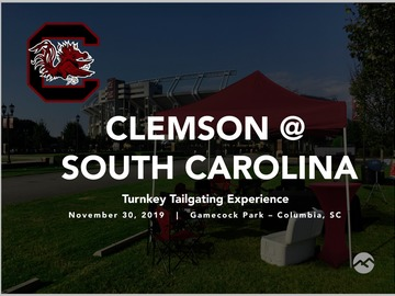 Paid Events: Clemson @ South Carolina Turnkey Tailgate