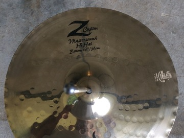 """Selling with online payment or cash/check/money order/cash app/Venmo: Zildjian Z Custom 14"""" Mastersound hi hat cymbals $200 obo"""