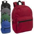 Liquidation Lot: 24 x Wholesale 15 Inch Basic Backpacks - 5 Assorted Colors