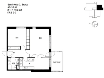 Renting out: 60 mt. sq. Fully-Furnished Home walking to Aalto, Otaniemi Campus