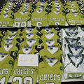 Buy Now: New Lot of 57 Youth Football Jerseys Green White Black Various Si