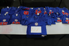 Buy Now: New Lot of 15 Pats Adult Football Jerseys Various Sizes XS-XL Blu