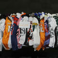 Buy Now: New mixed lot of Jerseys. (Baseball,Basketball,Football) Various