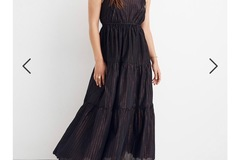 Selling with online payment: [SOLD] Madewell XS Metallic-Striped Tiered Maxi Dress