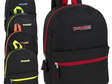 Buy Now: 24 x Wholesale Trailmaker 17 Inch Backpack - 5 Pop Colors