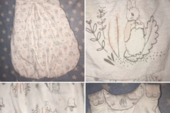 Selling with online payment: Baby girl sleeping bag, peter rabbit, age  0-6 Mths
