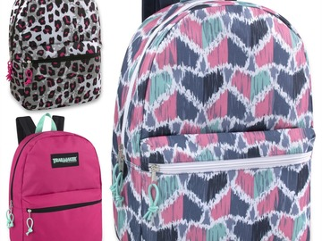 Buy Now: 24 x Trailmaker Classic 17 Inch Backpack - Girls Assortment