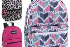 Liquidation Lot: 24 x Trailmaker Classic 17 Inch Backpack - Girls Assortment