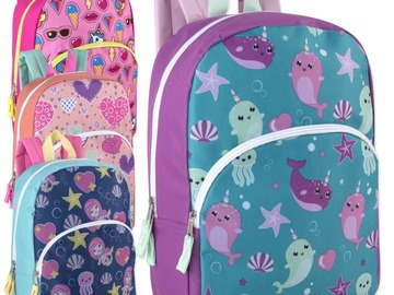Buy Now: 24 x 15 Inch Character Backpacks - Girls Assortment