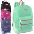 Liquidation Lot: 24 x High Trails 18 Inch Double Zip Backpack - Girls