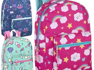 Buy Now: 24 x 17 Inch Printed Backpacks - Girls Assortment