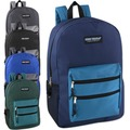 Buy Now: 24 x High Trails 19 Inch Double Zip Backpack With Two Side M